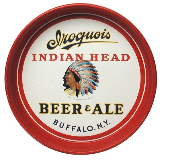 23: Iroquois Beer Serving Tray.