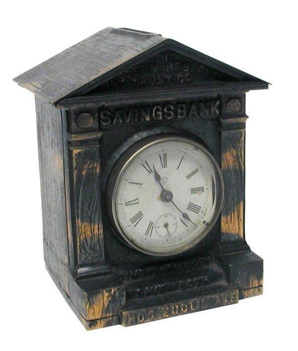 603: Rochester Clock C.I. Still Bank.