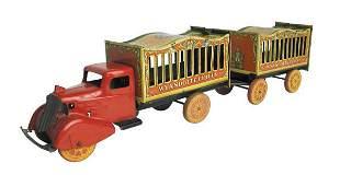 Wyandotte Circus Car and Trailer.