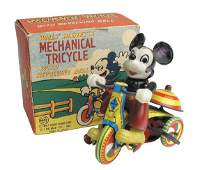 624: Linemar Mickey Mouse Mechanical Tricycle.