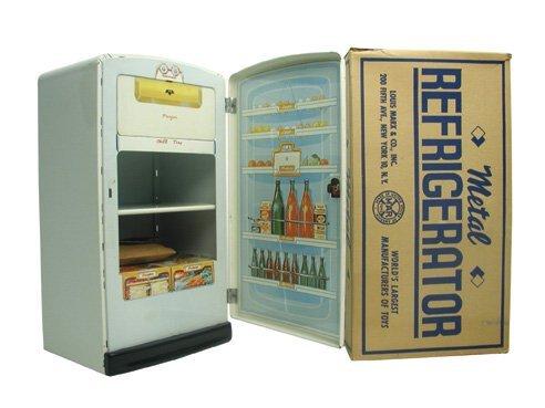 2: Marx Metal Refrigerator in O/B
