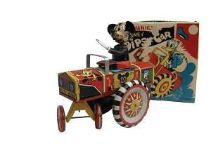 Linemar Mickey Mouse Dipsy Car in O/B