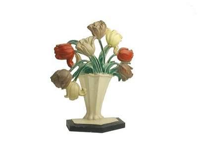 1302: C.I. Basket of Flowers Doorstop