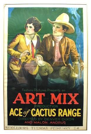 Ace of Cactus Range 1-Sheet Movie Poster.