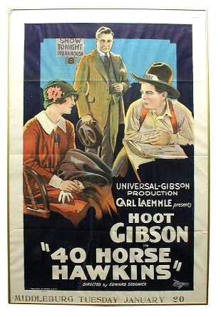 40 Horse Hawkins 1-Sheet Movie Poster.