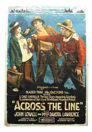 Across The Line Arrow Pictures Movie Poster 1-Sheet.