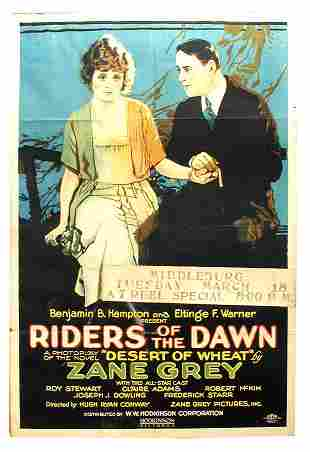 Riders of the Dawn 1-Sheet Movie Poster.
