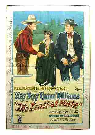The Trail of Hate 1-Sheet Movie Poster.
