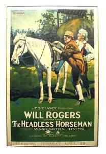 26: Will Rogers Headless Horseman 1-Sheet Movie Poster.