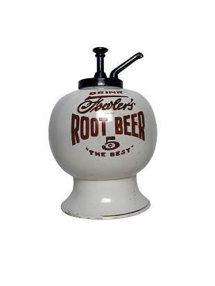 Fowler's Root Beer Dispenser.
