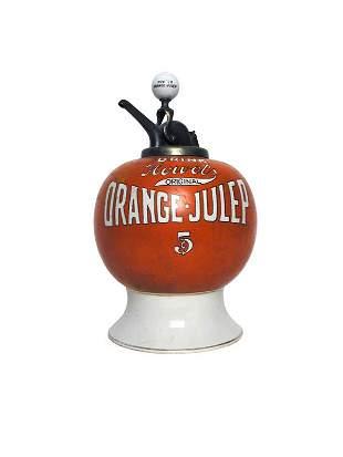 Fowler's Orange Julep Dispenser.