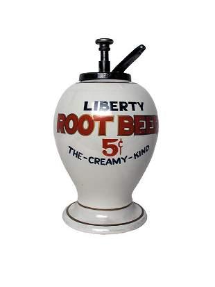 Liberty Root Beer Dispenser.