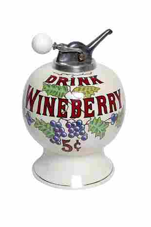 Wineberry Syrup Dispenser.