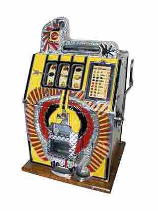 Lot of 3 Mills War Eagle Slot Machines.