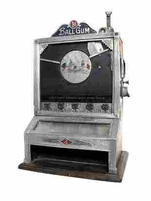 1-Cent Jennings Rockaway Gumball vender.