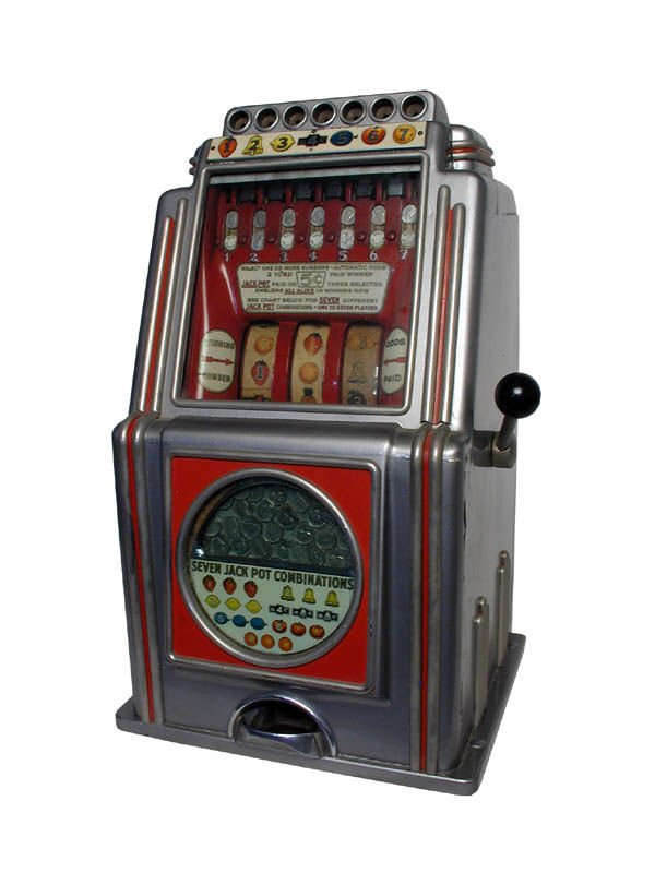 1122: A.C. Novelty Multibell Slot Machine.