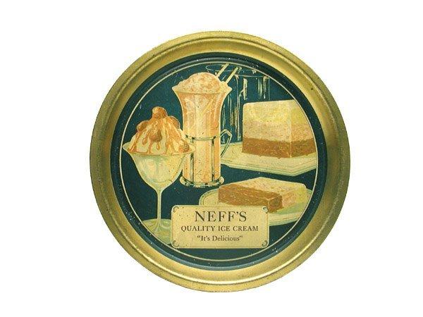 13: Neff's Ice Cream Serving Tray.