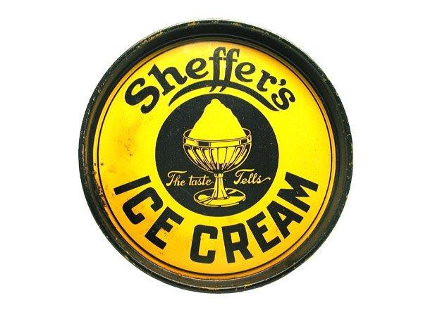 15: Sheffer's Ice Cream Serving Tray.
