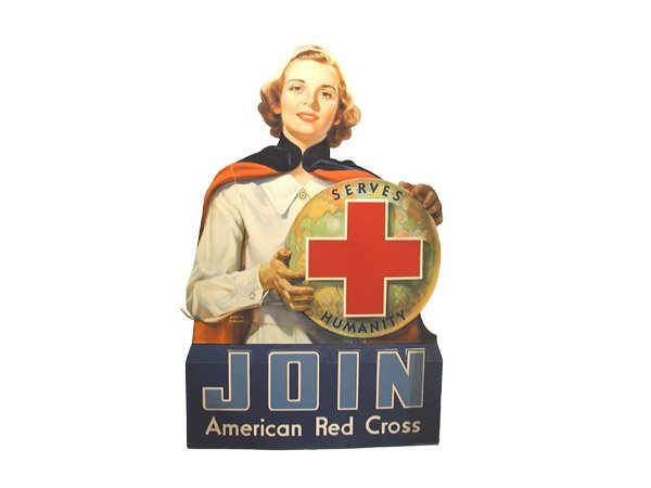 418: Lot 2 Red Cross Signs.