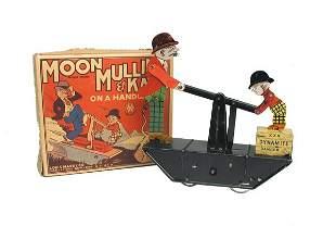Marx Moon Mullins Hand Car in O/B.