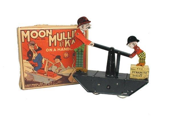 500: Marx Moon Mullins Hand Car in O/B.