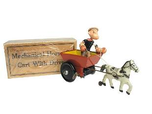 Marx Popeye in Cart in O/B.