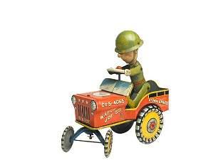 Unique Art G.I. Joe and His Jouncing Jeep.