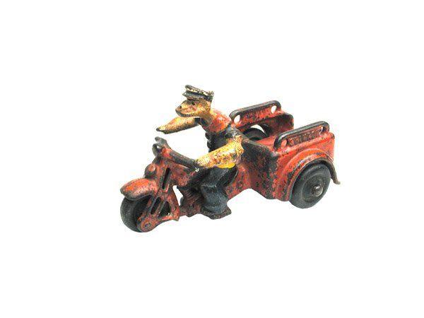 Hubley C.I. Popeye Motorcycle.