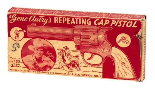 171: Gene Autry Repeating Cap Pistol Box Only.