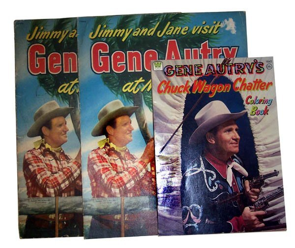 174: Lot of 3 Gene Autry Color Books.