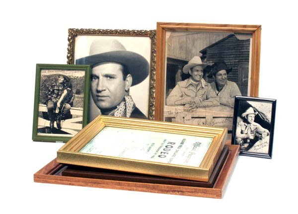 175: Lot of 7 Cowboy Related Pictures in Frames.