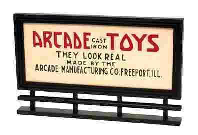 219: Arcade Toys Miniature Road Sign.