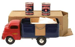 Structo Barrel Truck.