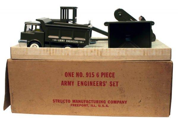 615: Structo Six-Piece Army Engineer's Set.