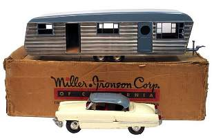 Smith Miller Lincoln Zephyr Car With House Traile
