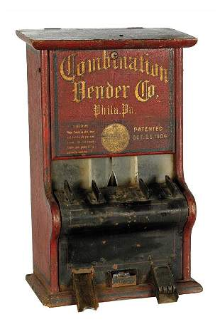 Combination Vending Co. One-Cent Gum Machine.
