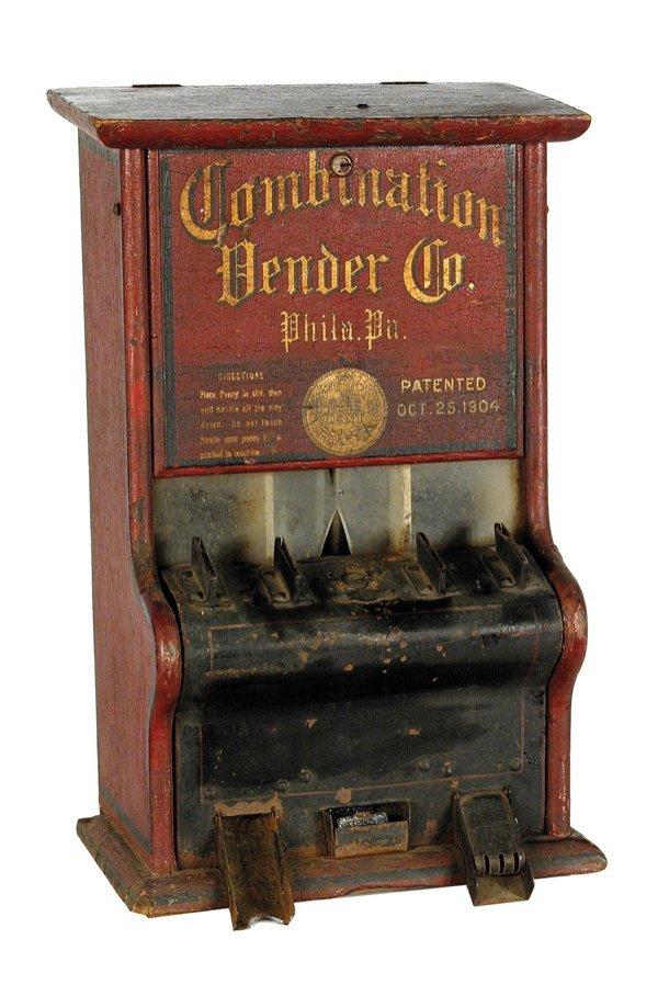 209: Combination Vending Co. One-Cent Gum Machine.
