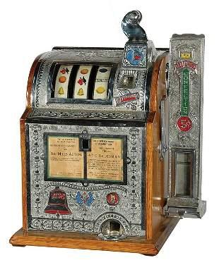 Mills Automatic Salesman Slot Machine With Vender.