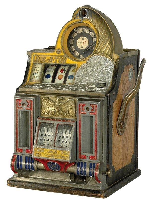 215: 5-Cent Watling Roll-A-Tor Slot Machine.