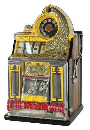 25-Cent Watling Roll-A-Top Bird Of Paradise Slot M