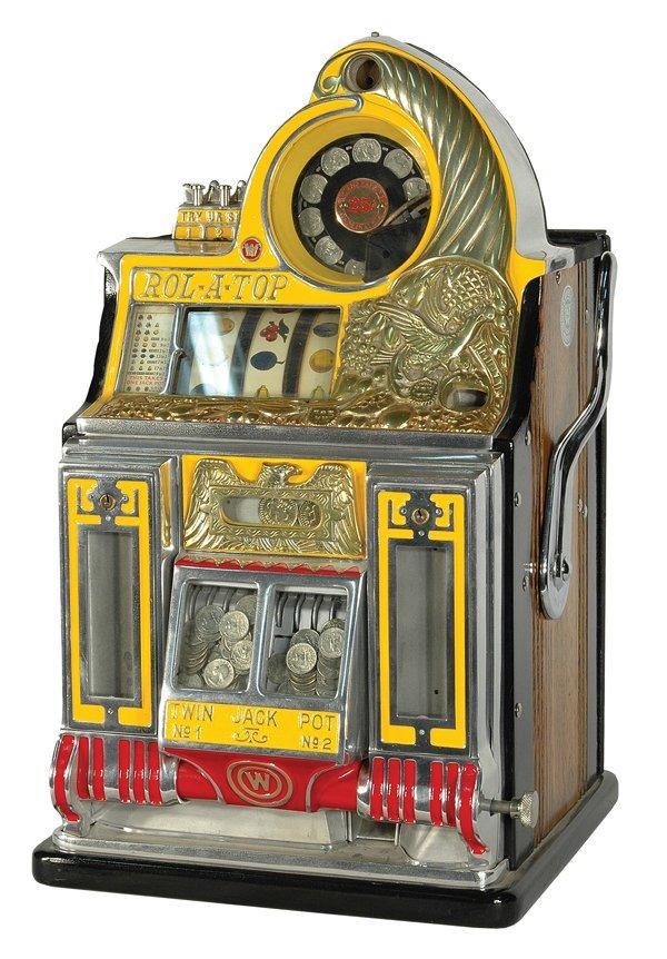 216: 25-Cent Watling Roll-A-Top Bird Of Paradise Slot M