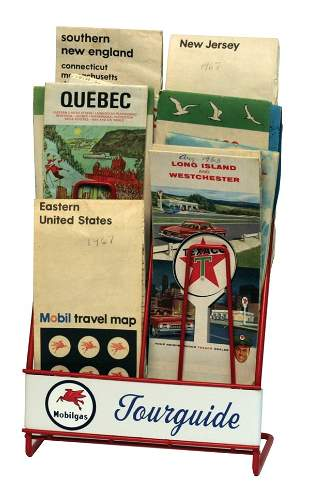 Mobil Gas Tour Guide Map Rack and Maps.