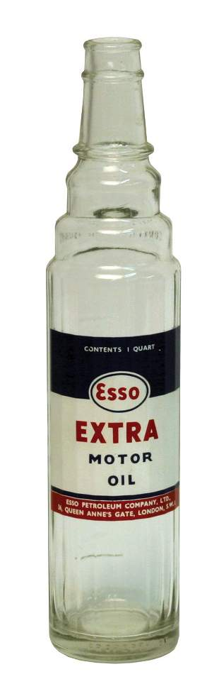 Esso One-Quart Glass Motor Oil Container.