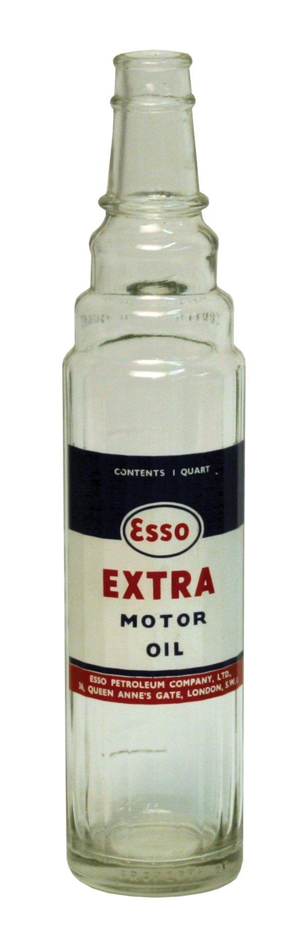 221: Esso One-Quart Glass Motor Oil Container.
