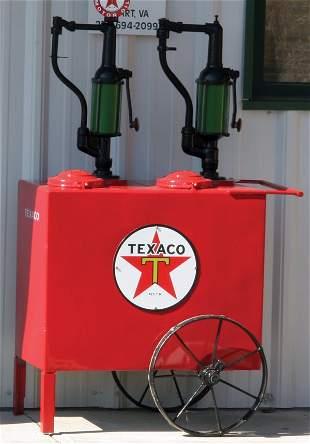 Texaco Oil Tank on Wheels Restored.