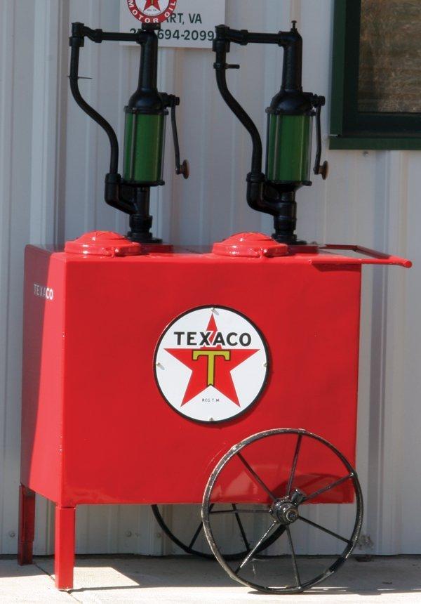 223: Texaco Oil Tank on Wheels Restored.