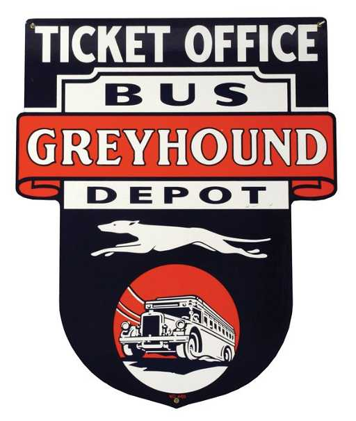 299 Greyhound Bus Depot Sign