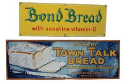 Lot of 2 Bread Signs.
