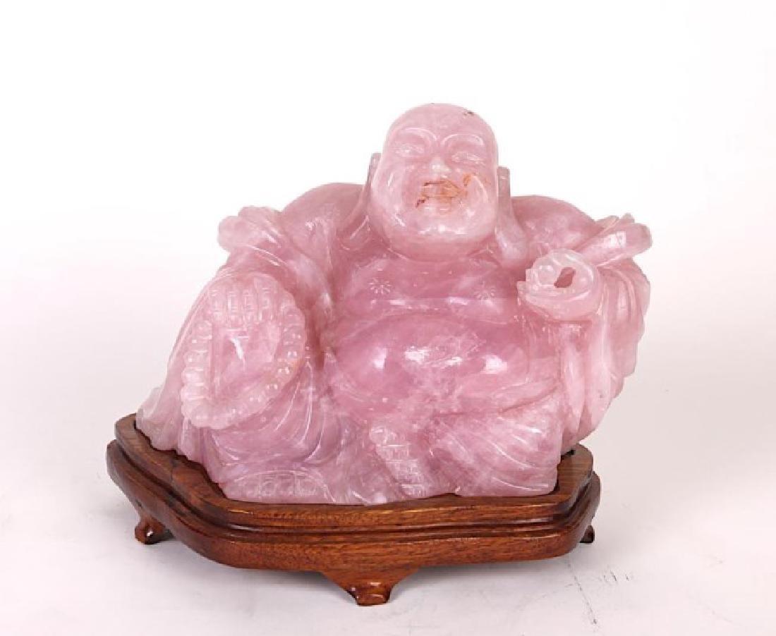 ROSE QUARTZ HAPPY BUDDHA
