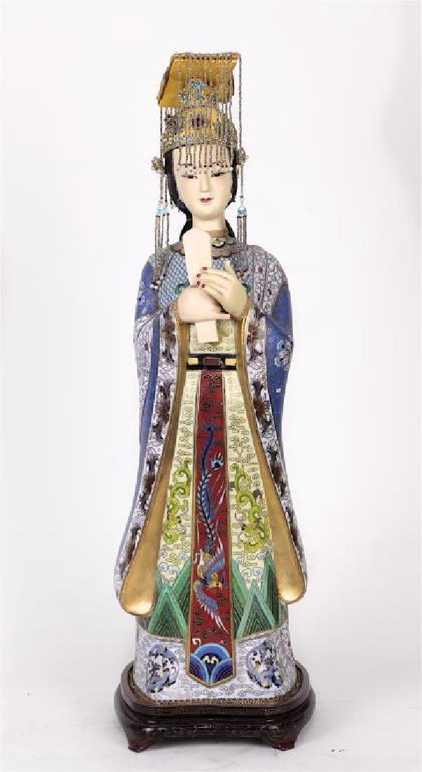 CHINESE CLOISONNE FIGURE